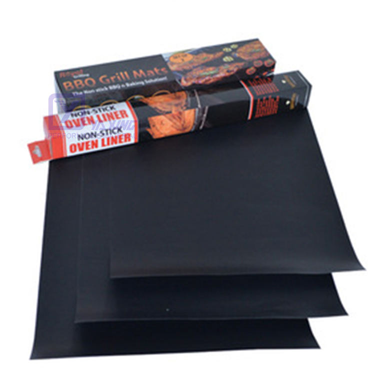 Oven Liner 0.40mm PTFE Cooking Mats Reusable Easy To Clean Non Stick Bbq Grill Mat