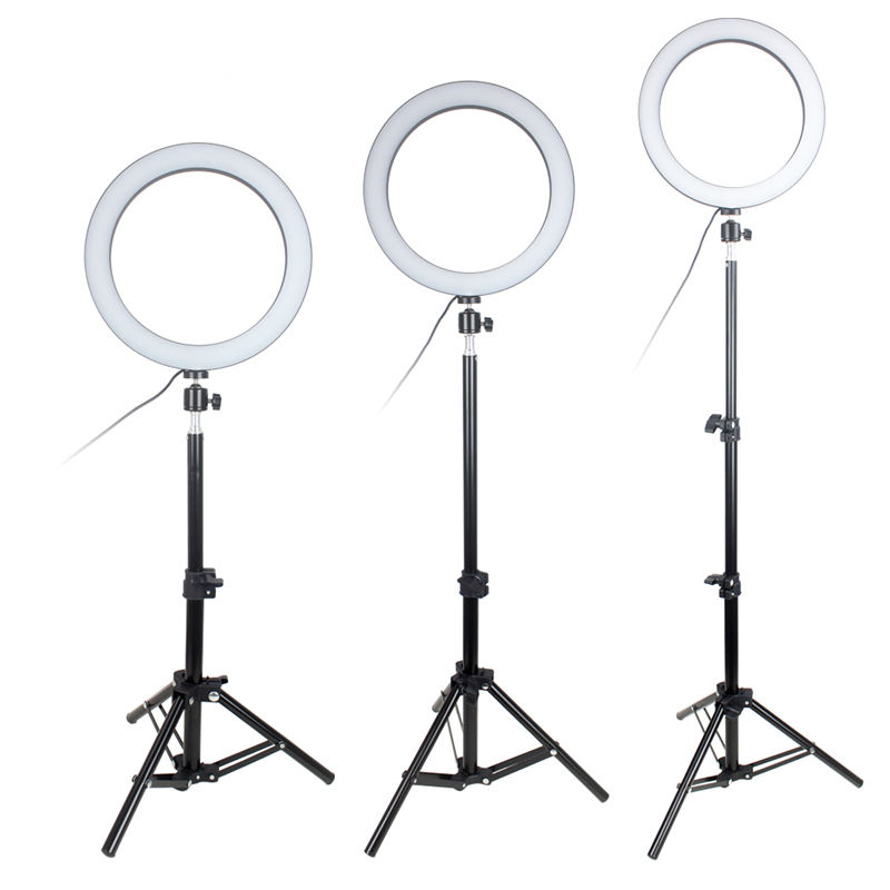 other camera accessories camera 8 10 12 inch led ring light led led circle ring light with Tripod Stand For Youtube Video
