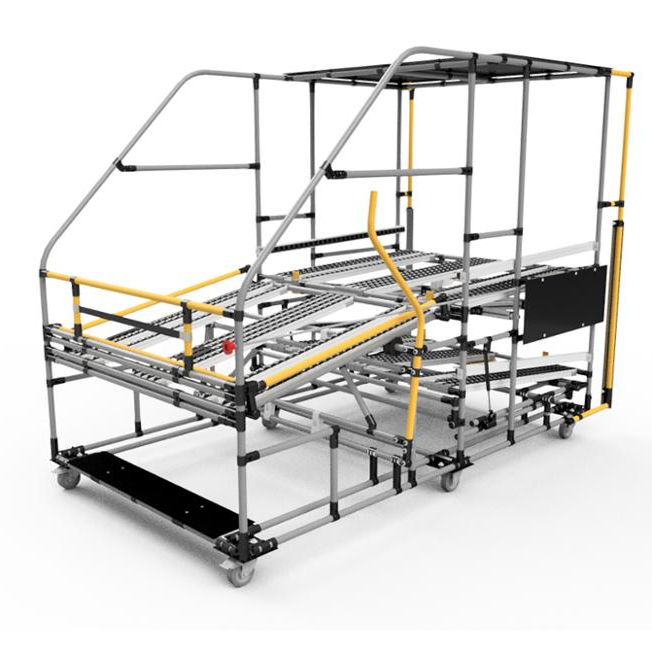 DY51 roller track lean pipe rack system for cargo storage