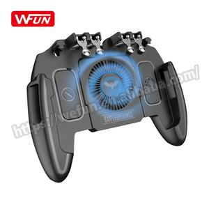 M11 Six Finger Gamepad Pub g Cooling Fan iOS Android Mobile Joystick Game Controller with L1r1 Trigger