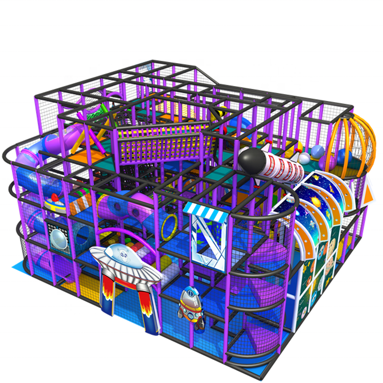 New arrival kindergarten kids game amusement slide equipment multifunction indoor playground