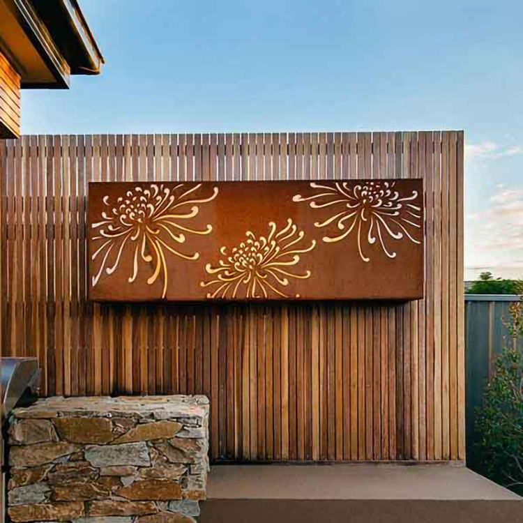 China Laser cut new design arabic decorative corten steel room dividers metal screens partitions