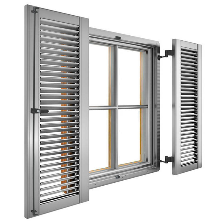Outdoor Mechanism Aluminium Shutters Plantation Shutter Window With Built-In Shutter