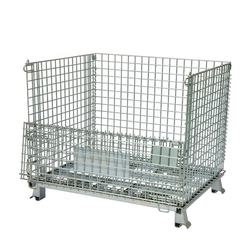 Galvanized stackable foldable wire container mesh pallet factory price