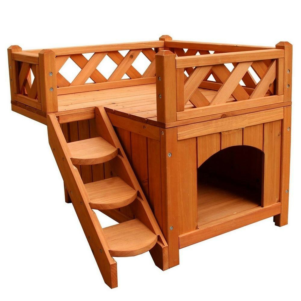 Wholesale Wooden Room Pet Dog House Shelter with Stairs
