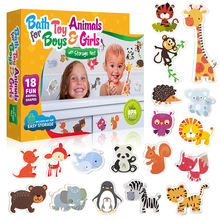 OEM baby learning EVA foam animal bath toy set