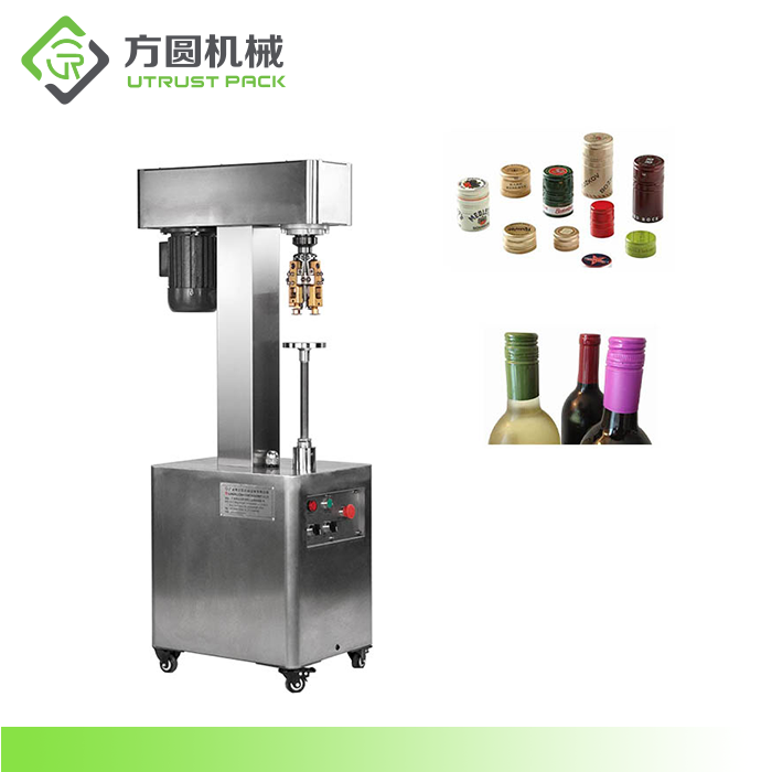 Manual Capper Machinery to Close Glass Bottles with Aluminum Cap