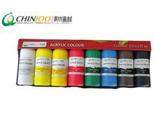 Cheap price set of 12 colors painting drawing canvas wood ceramic fabric Non toxic & vibrant artist oil acrylic paints