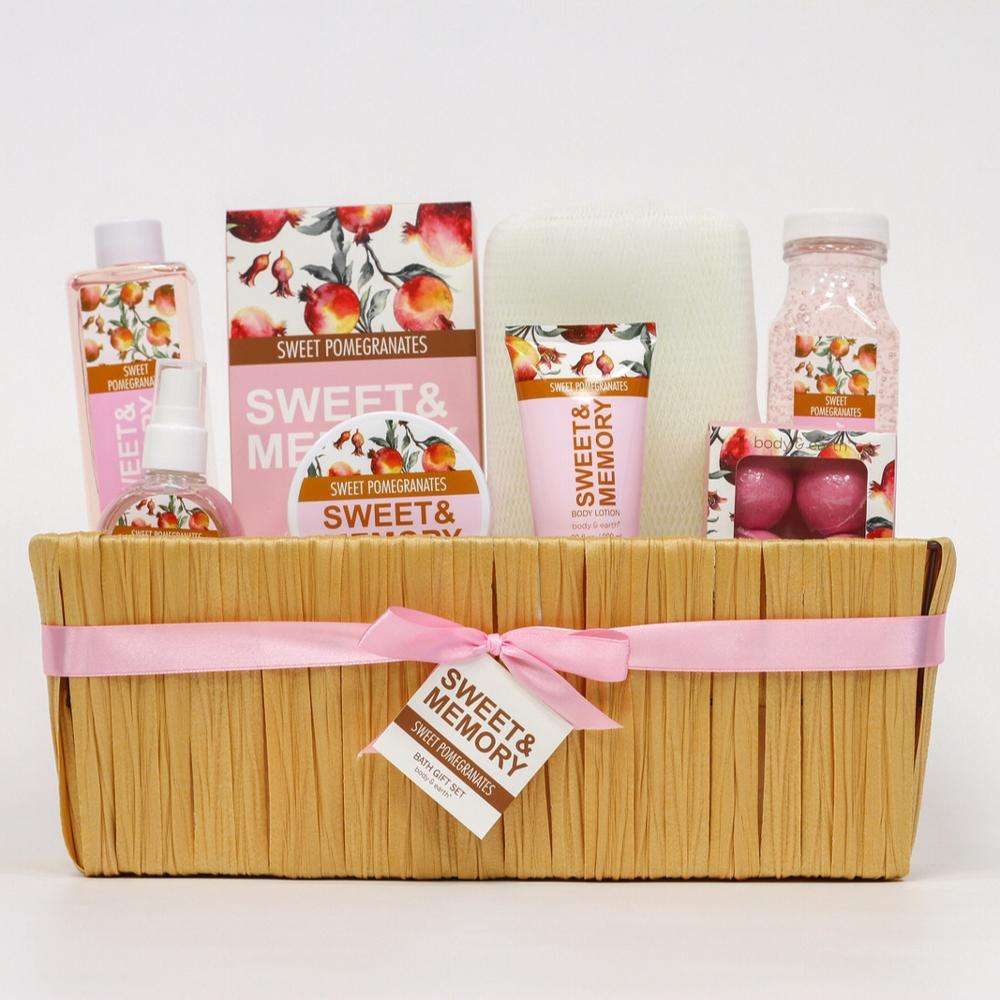 Luxury natural whole bath set gift basket sweet fragrance include body lotion care body for her