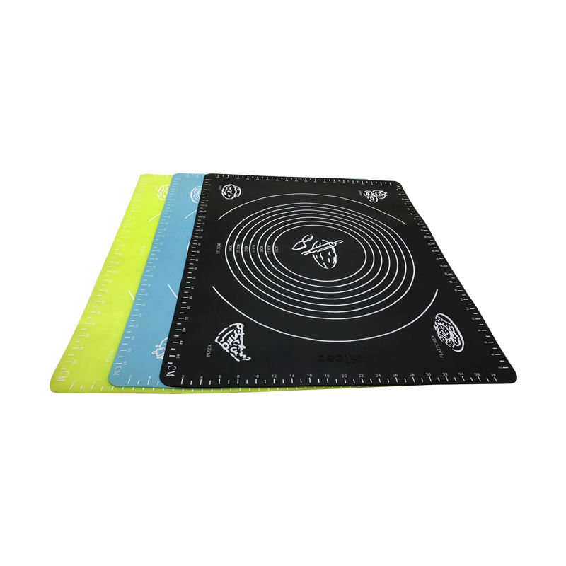 Heat Resistant Silicone Placemat with Custom Logo Printing BPA Free Nonstick Silicone Rolling Mat for Dough
