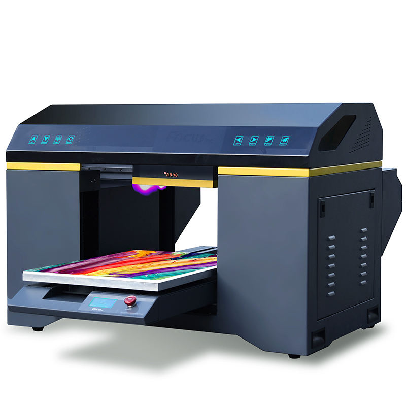 New uv flatbed printer Alpha Jet cmyk lc lm white varnish embossed printing machine