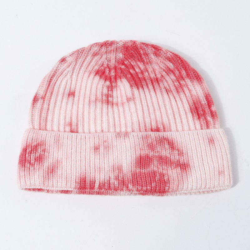 5 Colors High Quality Winter Logo Printing Gradient Color Cheap Beanies Knit Beanie Hat For Men Women