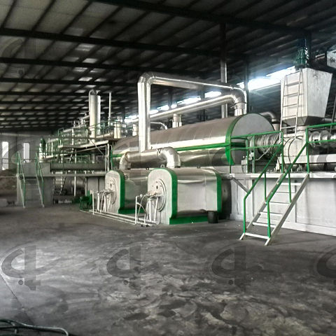 continuous waste tyre pyrolysis plant and high quality pollution-free waste plastic