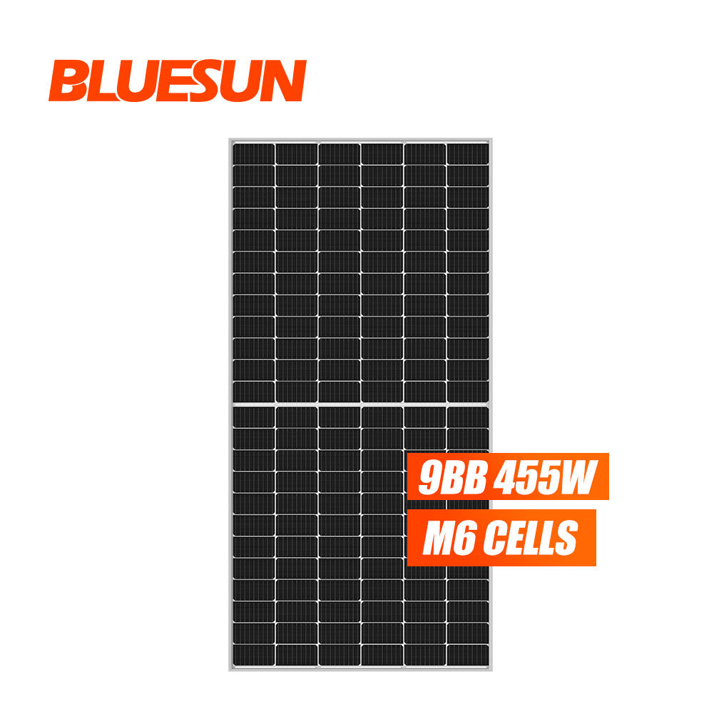 Bluesun ja solar panel solar 6bb 9bb mono perc solar panels price 440w 450w 455w solar power panel with CE TUV ETL CEC