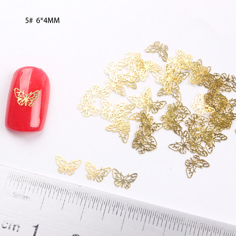 TSZS brand JSP-1 Famous 10000pcs/bag metal butterfly art Gold 3D nail Christmas snowflakes Metal Slices 2020 nail art decoration