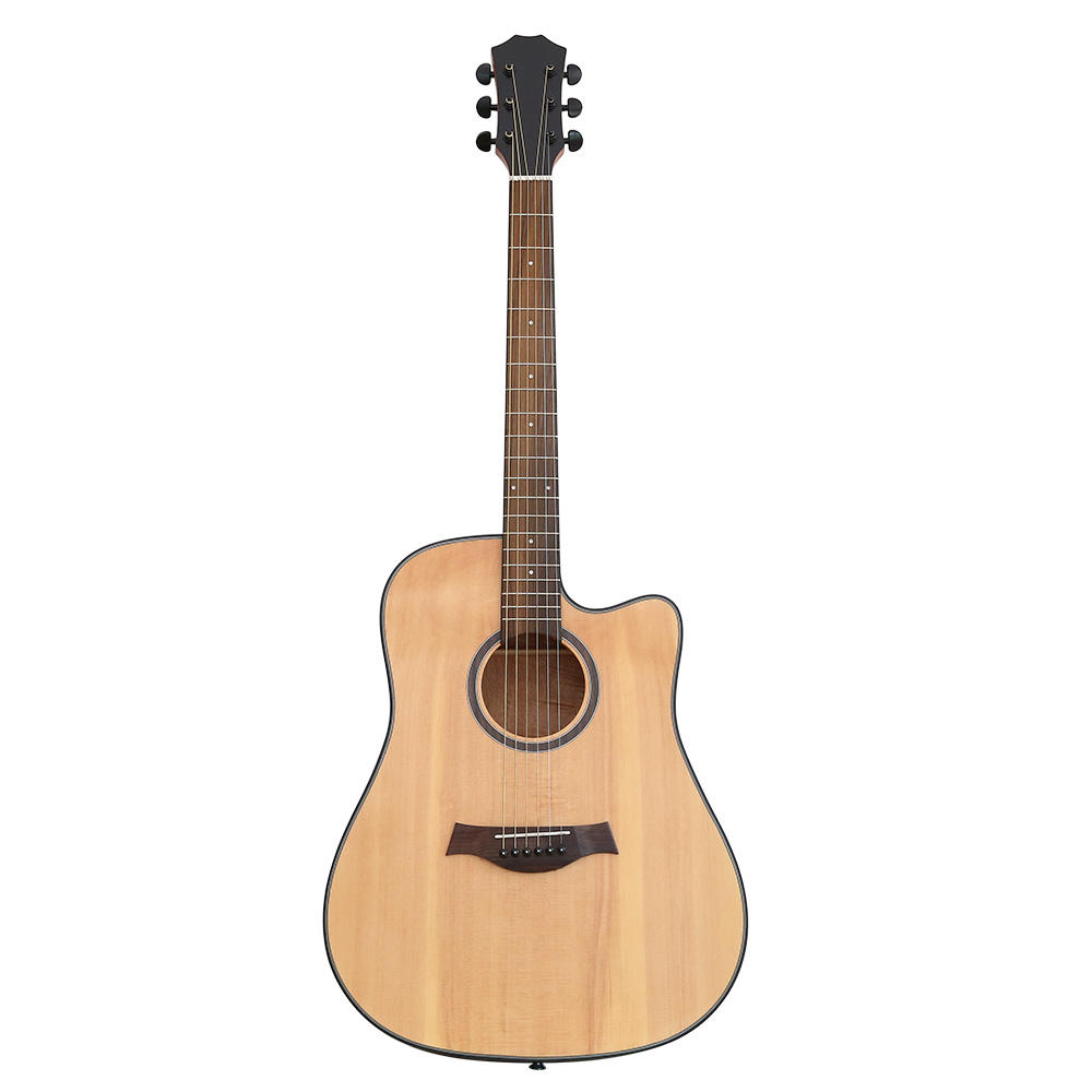 Hricane On sale 39inch 41inch acoustic guitar for beginners spruce top mahogany guitar
