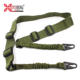 Hunting Accessories polyester webbing retractable leather single two point rifle sling tactical paracord shot gun sling