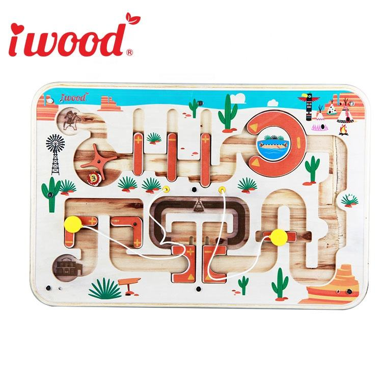 Wooden Educational Toy Customize Busy Board