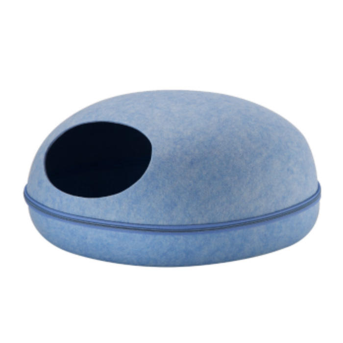 Factory Fast Shipping Comfortable Egg Shape Dome Felt Cat Cave Bed Pet House For Cat