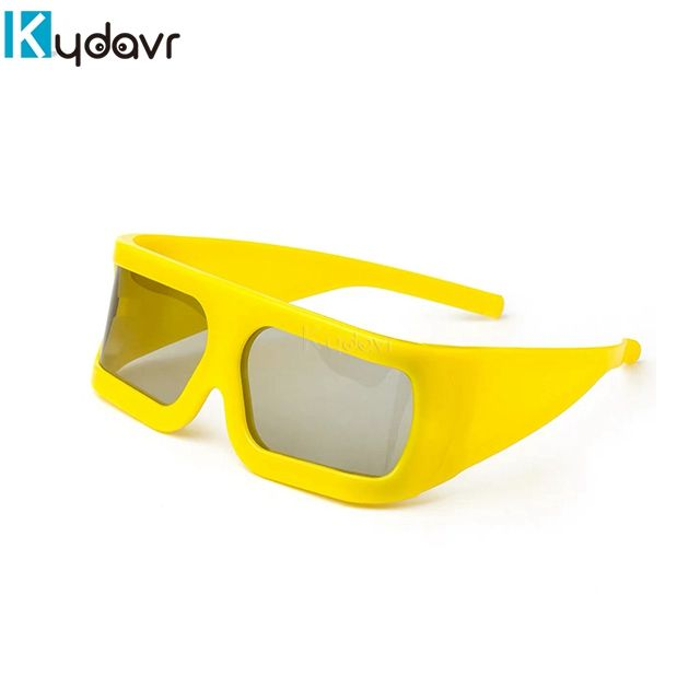 Hot sale yellow 3D video Glasses mobile theater glasses 4D/5D/7D/9D cinema glasses for sale