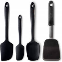 Oem design silicone kitchen spatula spoon baking tools and gadget set