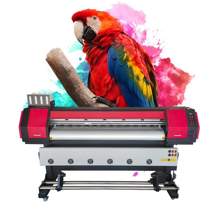 For Printing Shops Flex Printer Price Crystaljet 1.6m Eco Solvent Printer Vinyl Flex Banner Printer Low Price Sticker Inkjet Printer