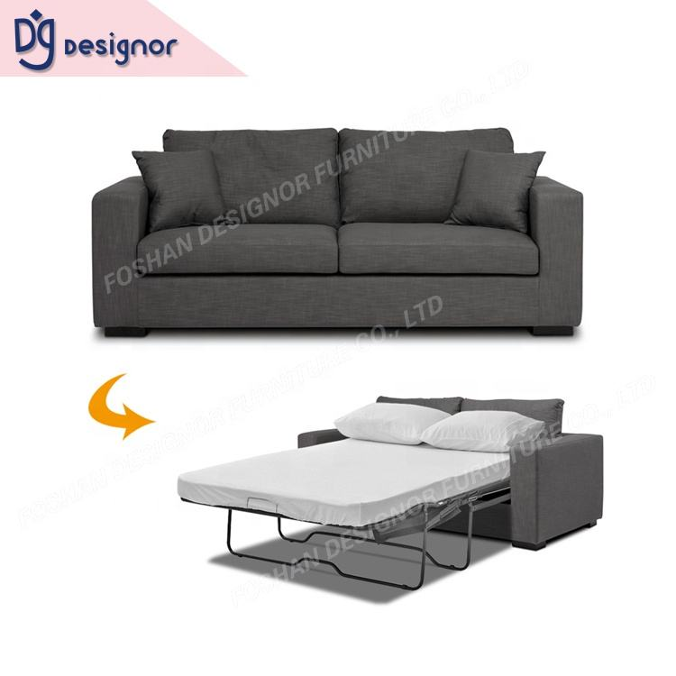 DG Foldable transformer furniture lounge fabric modern design single hotel sofa set cum bed folding couch living room sofa bed