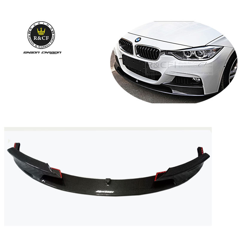 2008-2013 BMW M3 E90//E92//E93 KA Style Front Bumper Carbon Fiber Splitter Canards