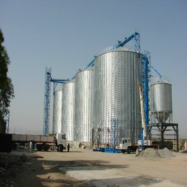5000t galvanized grain storage tank silo