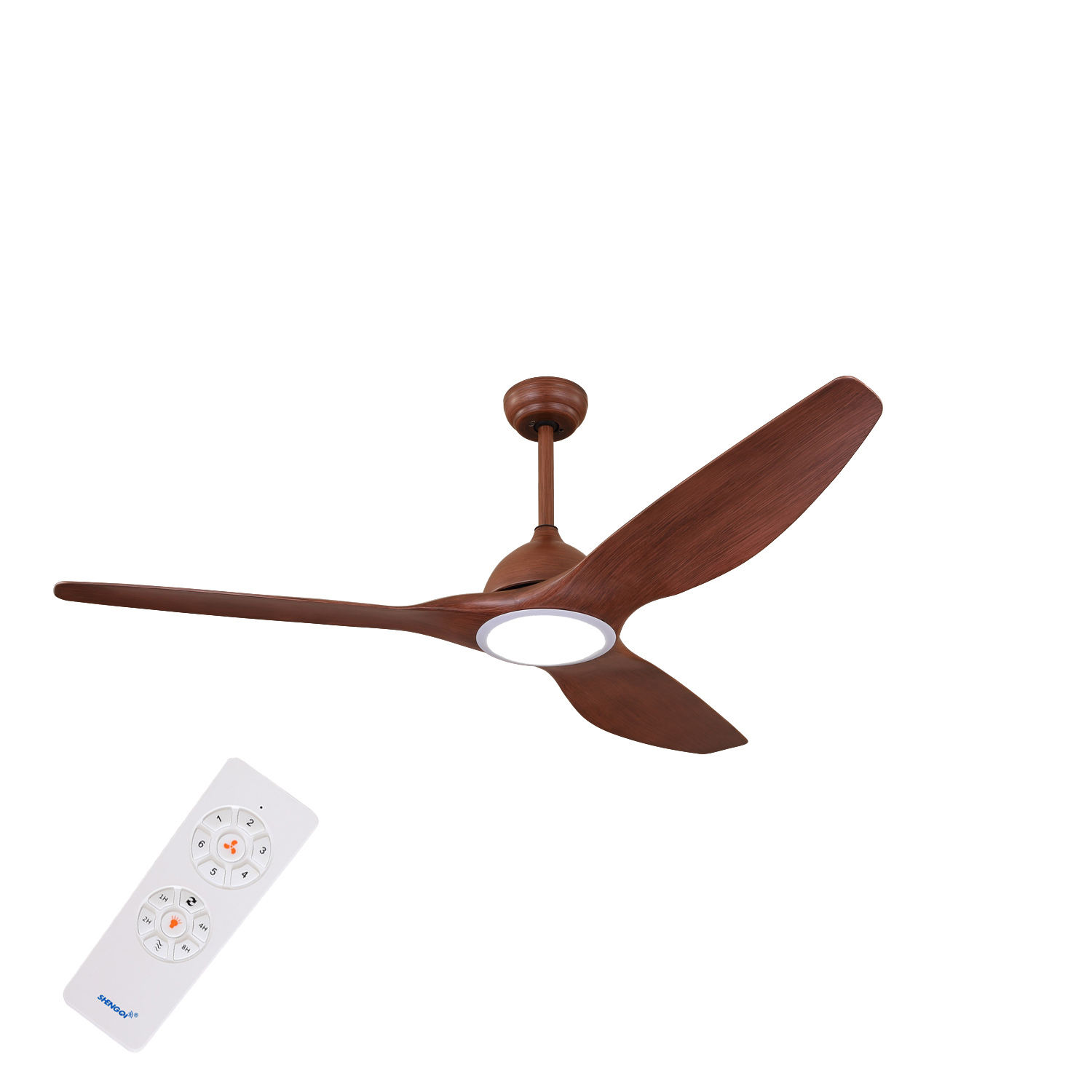 60w 62 Inch Electric Plastic Decorative Ceiling Fan For Home