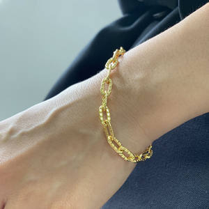 New 14K Gold Plated Cute Tiny Charm Dainty Handmade Bracelet for Women