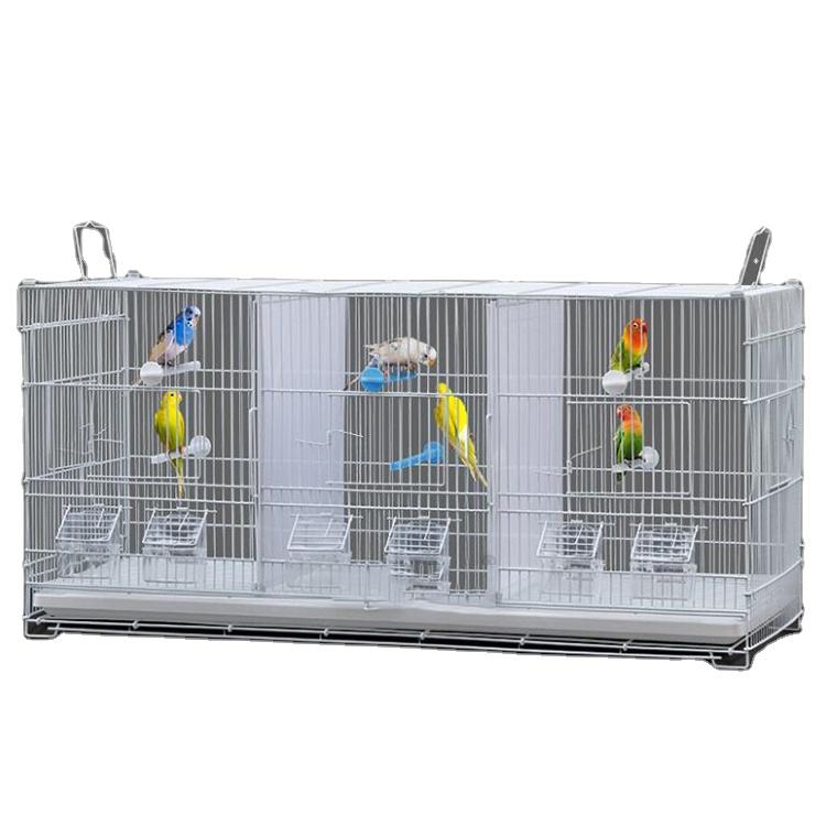 Multi space bird cage High Quality heavy duty Wire Steel breeding parrot cage three space bird cages that can be kept separately