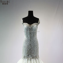 LUWEIYA High Quality Lace Satin Short Sleeve Applique Tulle Love Season Wedding Dress Pregnancy Boho Dress