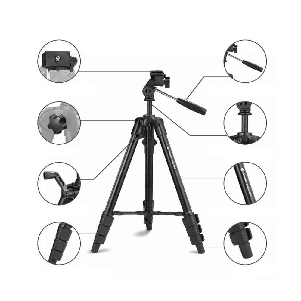 Fotopro Best Portable Lightweight Video Photo Smartphone Camera Tripod for DSLR