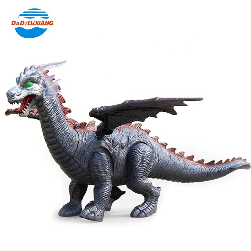 multifunction battery operated walking electric dinosaur toy with light and sound