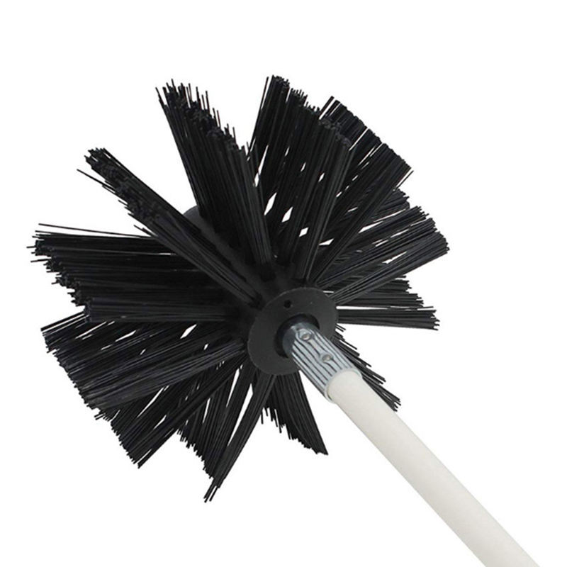 Durable dryer vent chimney brush with long handle