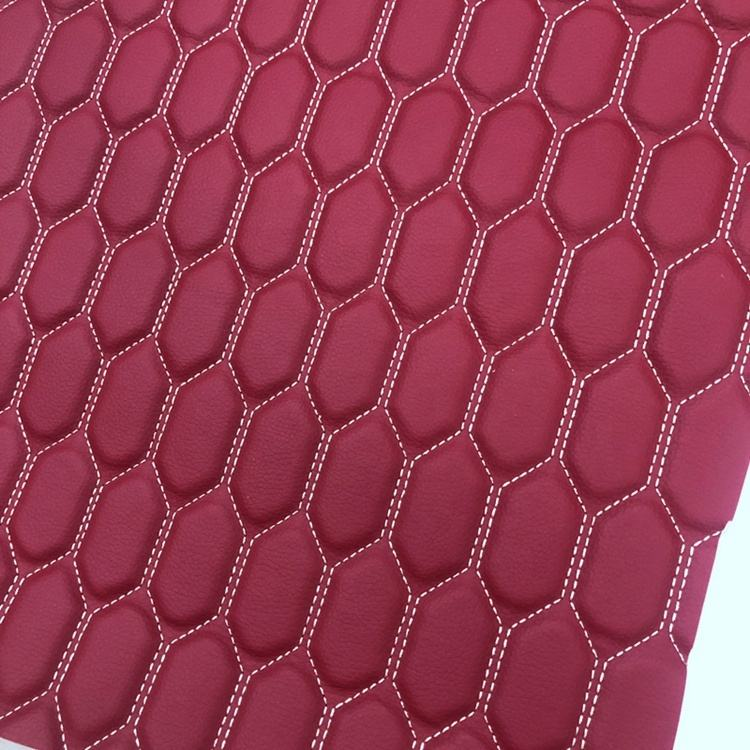 Hot sell car seat cover synthetic leather fabric with different color