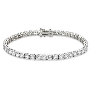 925 sterling silver jewelry 18k white gold plated 4mm zirconia tennis bracelet wholesale
