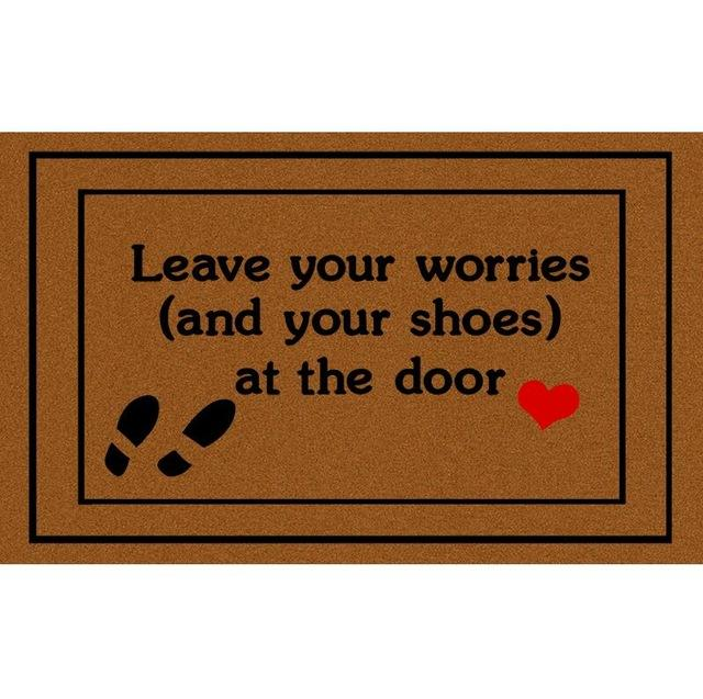 Doormat Entrance Floor Mat Funny Doormat Leave Your Worries And Your Shoes Take Remove Off Your Shoes Outdoor Rubber Door Mat