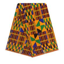 African Kente Dress Designs Fabric Super Real Cotton Kente Style Colorful Fabrics
