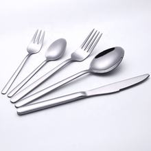 Wholesale Silver Stainless Steel Spoon Fork Knife Bulk Flatware Set