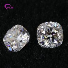 Wuzhou Provence halo 0.2 carat moissanite gemstone cushion loose cut moissanite jewelry def color