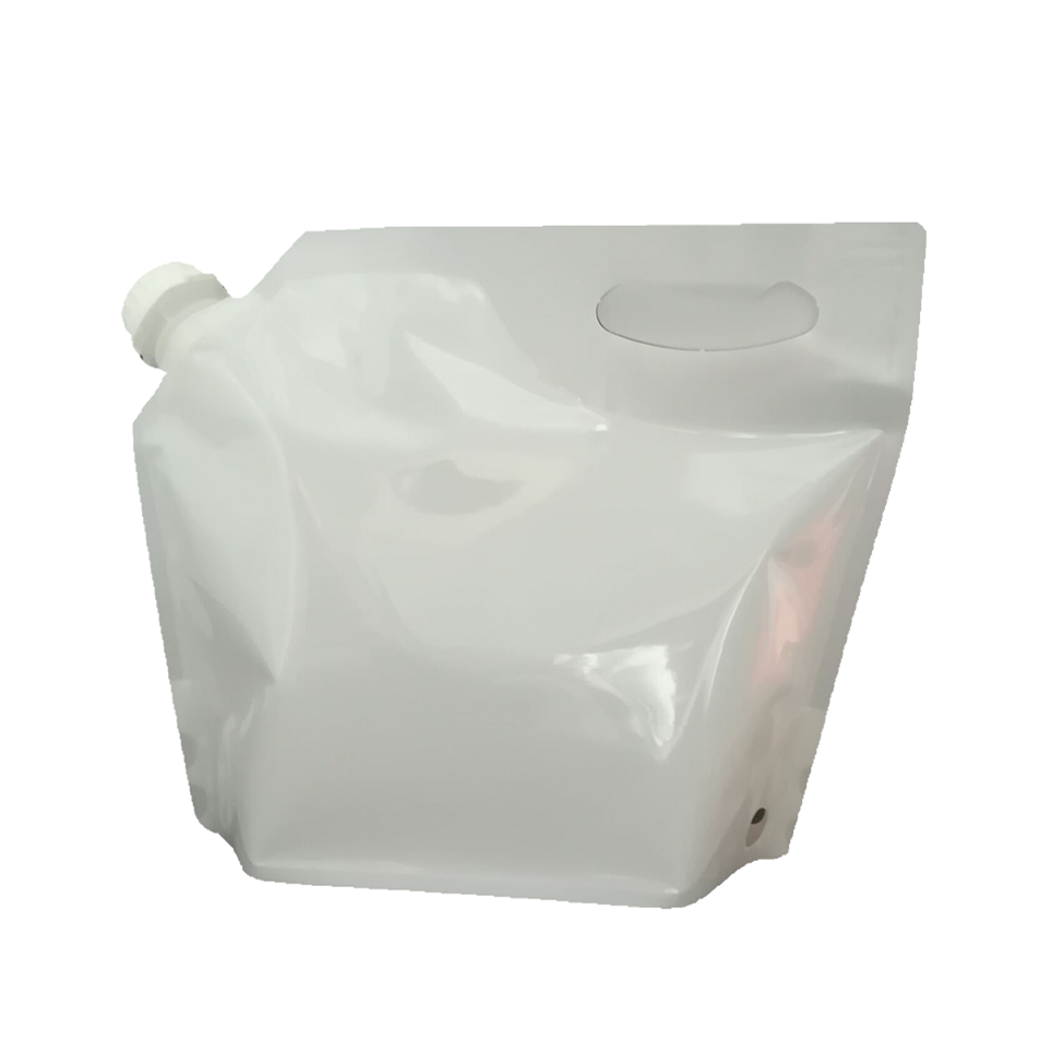 off-white color PE surface handle Customizable valves stand up packaging bag pouch container with suction control valve/scv cap