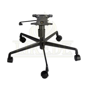 New low price high quality 5 star metal tubular chair base legs black aluminum office chair parts