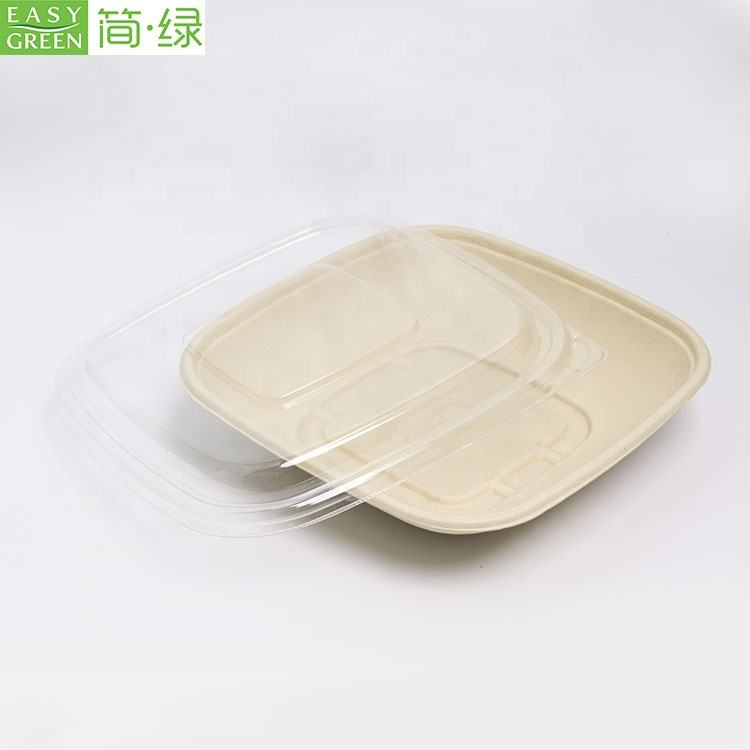 Easy Green 32oz biodegradable and home compostable bagasse pulp fruit packaging tray