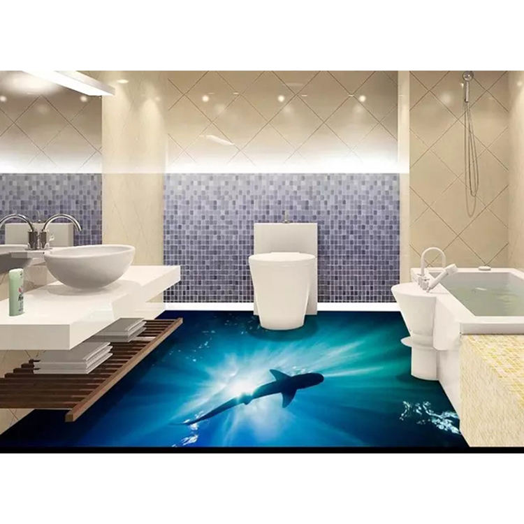 seaworld picture bathroom 3d floor tile porcelain wall tile