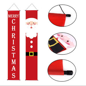 Holiday decoration Christmas flags outdoor hanging flag banner with custom