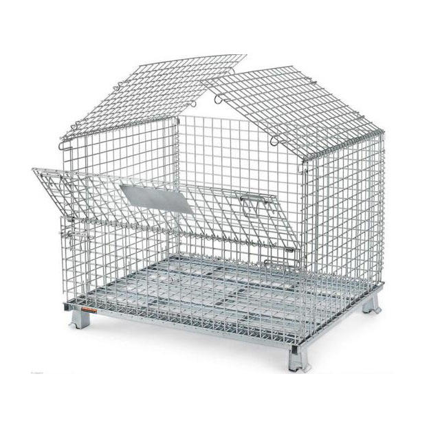 Heavy Duty collapsible steel wire Mesh pallet container with best price
