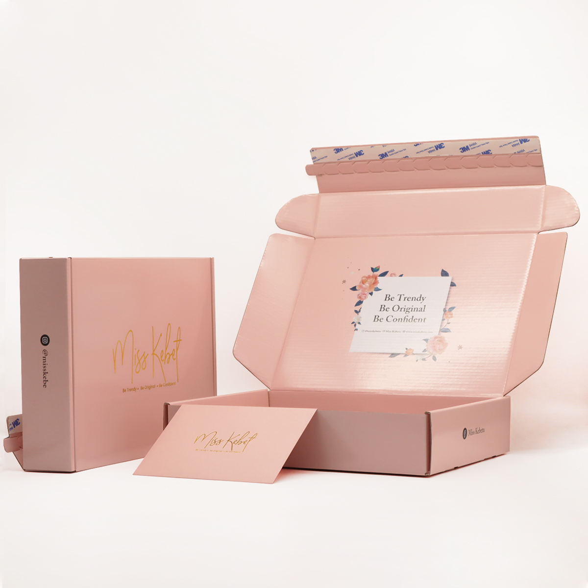 Free Design Pink SkinCare Beauty Care Mailer Box Packaging