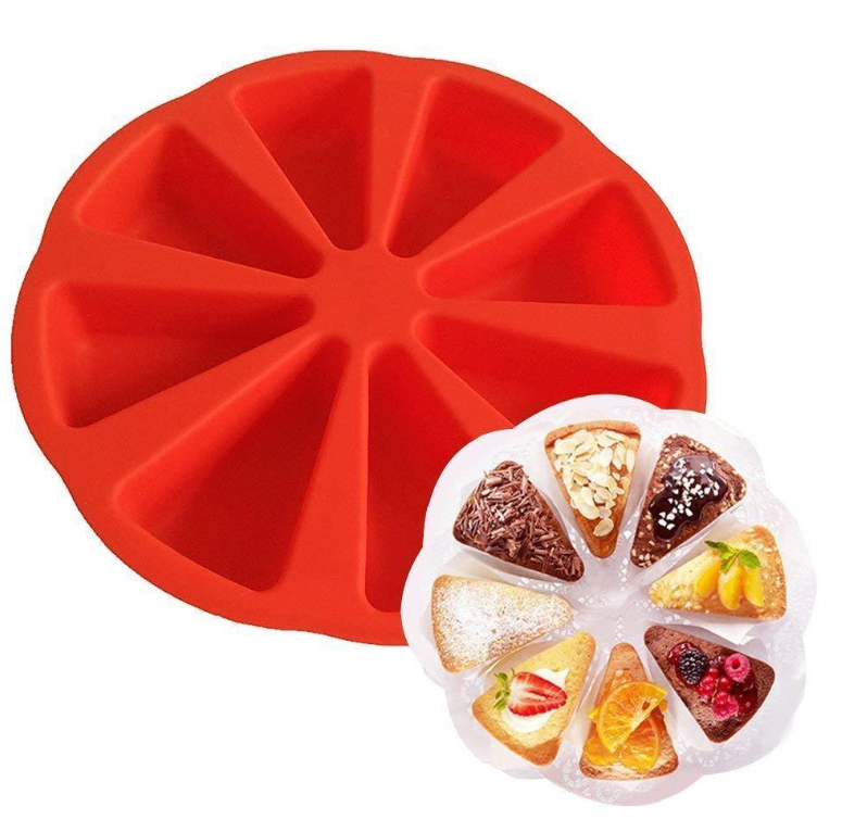 8 Triangle Cavity Silicone Cake Portion Mould DIY Cake Model Baking Mold